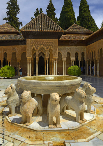 Nasrid Palaces (Palacios Nazaríes) Alhambra Palace, Granada