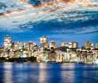 Kirribilli night skyline in Sydney, Australia
