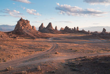 Trona Pinnacles Are Nearly 500 Tufa Spires Hidden In California Desert National Conservation Area, Not Far From The Death Valley National Park, California, USA.