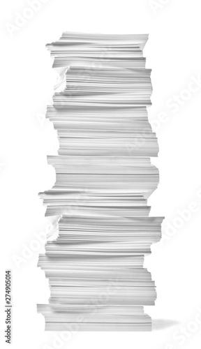 Fotografia, Obraz  paper stack pile office paperwork busniess education