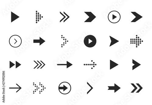 Canvas Prints Textures Super set different arrows mark. Flat style vector illustration