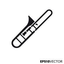 Trombone Vector Icon