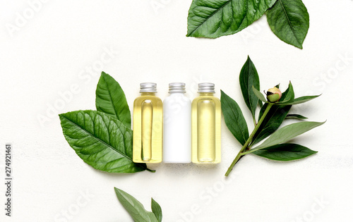Poster Pays d Asie Spa concept with massage lotion and essential oils