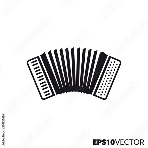 Photo Accordion vector glyph icon