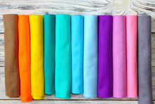 Rolls Of Bright Colored Felt F...