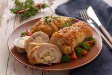 Stuffed Chicken Roll S Vegetab...