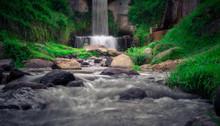 Fairy Falls - Waterfall In Cameron Highlands, Malaysia