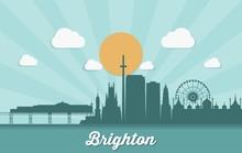 Brighton Skyline - Egnland - United Kingdom - Vector Illustration