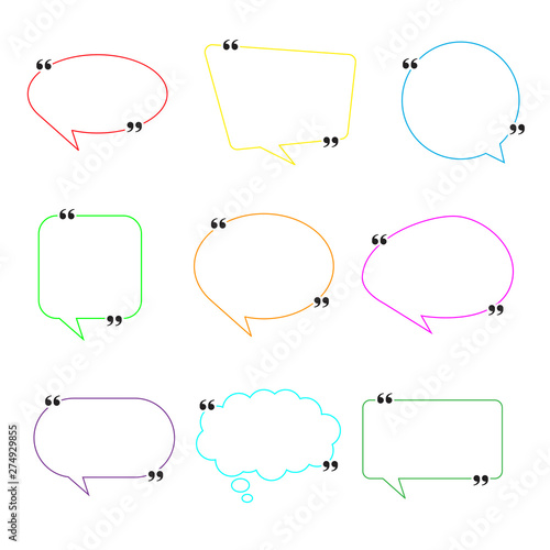 Obraz na plátne Blank Empty Speech Bubbles with punctuation marks