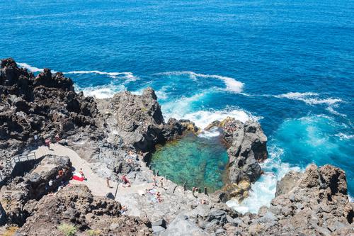 natural swimming pool at tenerife coast, Spain Fototapeta