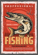 Fishing Hook, Pike Fish And Fi...