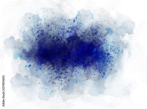 Abstract beautiful Colorful watercolor illustration painting background, Colorful brush splashing. - 274934635