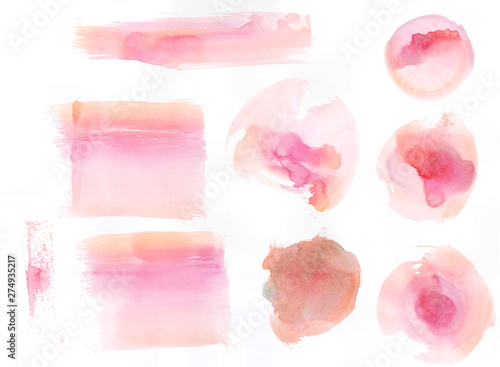 Fototapety, obrazy: Abstract beautiful Colorful watercolor illustration painting background, Colorful brush splashing.
