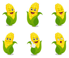Happy Corn Cartoon Design