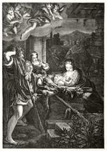 Nativity Of Jesus Depicted Wit...