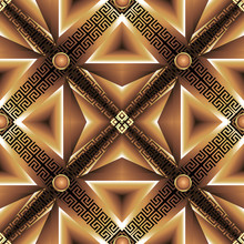 Abstract Geometric 3d Triangle...