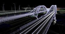 The BIM Model Of Railway Bridges Of Wireframe View