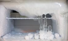 Ice Crystals Icebox Freezer In Refrigerator