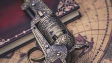 Antique Bronze Carved Gun Collectible