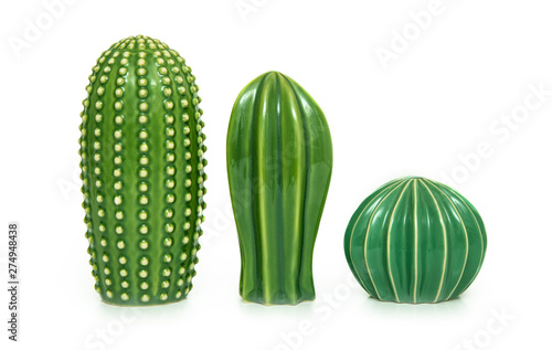 Fotomural Trendy cactus shaped vases