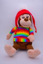 Soft Toy Monkey On White Background