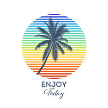 Enjoy Today Typography For T-s...