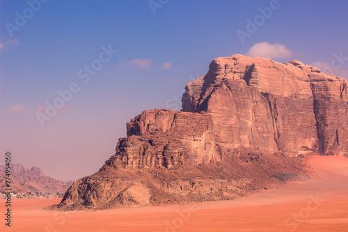 Foto auf Gartenposter Koralle picturesque bare sand stone mountain in Atacama national park in south America nature scenery landscape destination for tourists