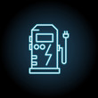 Electric apparatus for refueling neon icon. Simple thin line, outline vector of Sustainable Energy icons for UI and UX, website or mobile application