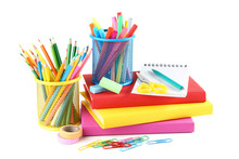 School Supplies With Books On ...