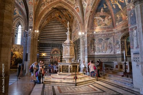 Con. Antique Panoramic view of interior of Battistero di San Giovanni