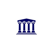 People Law Pillar Logo Vector Icon Illustration