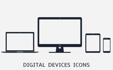 Set Of Digital Devices Icons V...