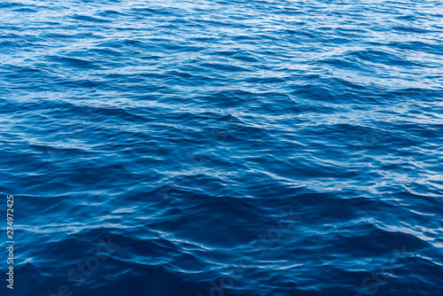 Tableau sur Toile Sea water surface texture. Deep sea waves