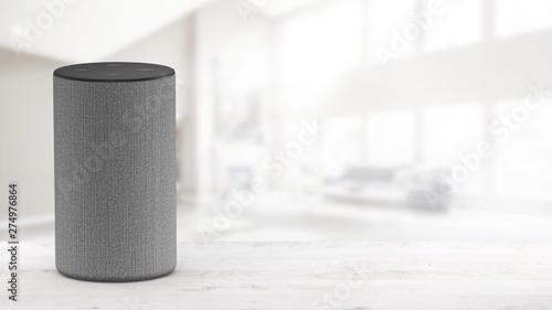 Obraz Smart speaker with voice control - Mockup - fototapety do salonu