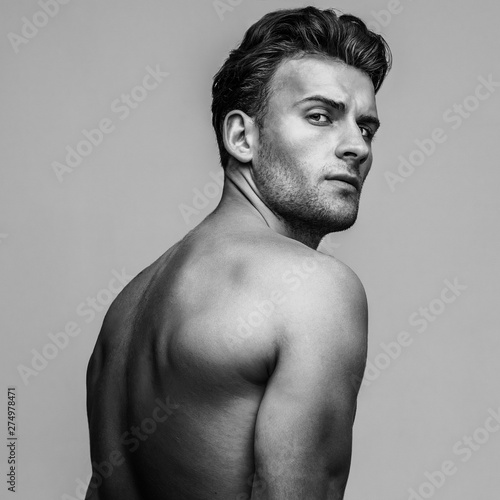 Male beauty concept  Portrait of handsome young man with