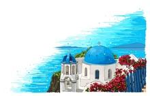 Greece Summer Island Landscape...