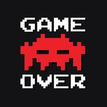 Graphic Vintage Arcade Game Vector