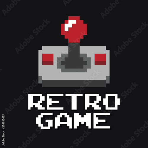 Foto Graphic joystick arcade game vector
