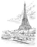 Fototapeta Paryż - Vector hand drawing Paris 3