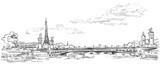 Fototapeta Fototapety Paryż - Vector hand drawing Paris 4