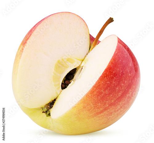 Poster Fleur Red apple three quarters