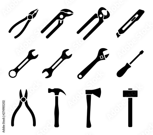 Cuadros en Lienzo Tools icons set. Instruments signs collection. Vector