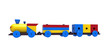 Train, colorful wooden toy