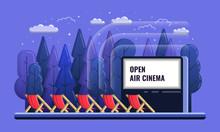 Vector Open Air Cinema Flat Il...