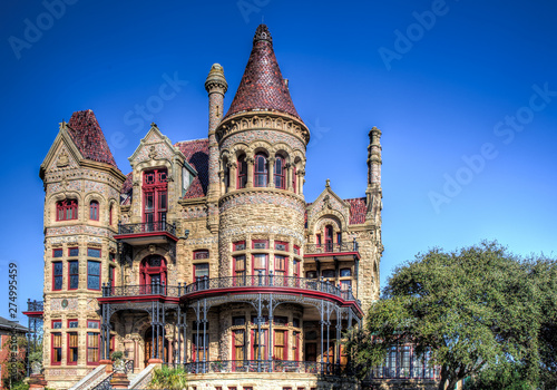 The Bishop's Palace in Galveston built by Walter Gresham is an extravagantly decorated house with a Victorian adaptation of the classic Renaissance style Canvas Print