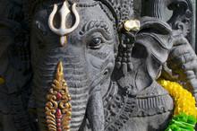 Black Ganesha Stone Statue