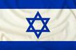 national flag of israel on silk