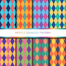 Argyle Seamless Pattern Set.