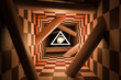 Tunnel mit Schachmuster
