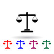 Libra multi color icon. Elements of finance set. Simple icon for websites, web design, mobile app, info graphics